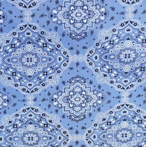 Tricoline Bandana Tradicional Azul Serenity 100% algodão - valor referente a 0,50 cm x 1,50 cm