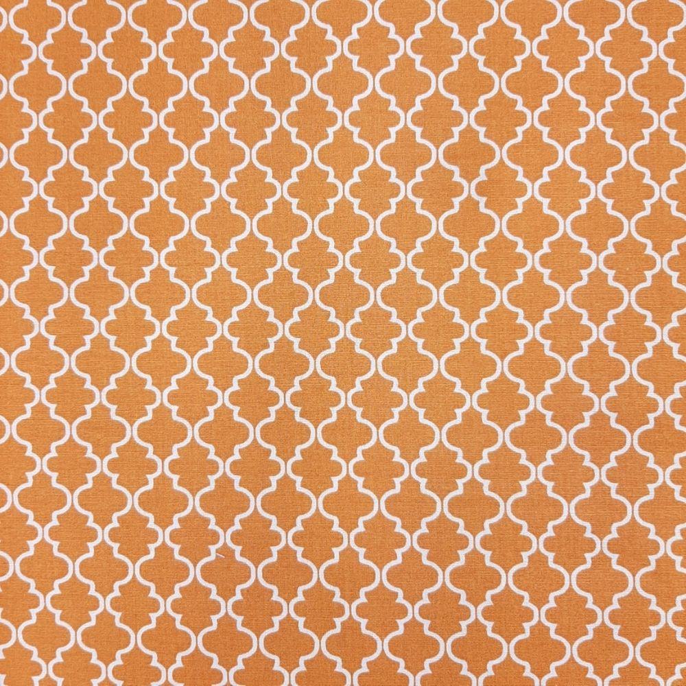 Tricoline Delicato Laranja 100% algodão - valor referente a 50 cm x 1,50 mt