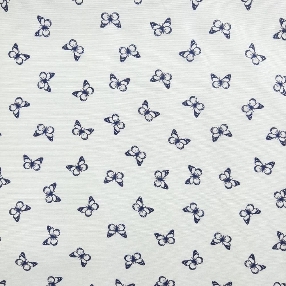 Tricoline Borboletinhas MISTA 70% algodão 30% poliéster - valor referente a 50 cm x 1,50 cm