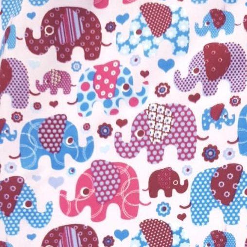 Tricoline Elefante Colorido 100% algodão - valor referente a 0,50 cm x 1,50 mt