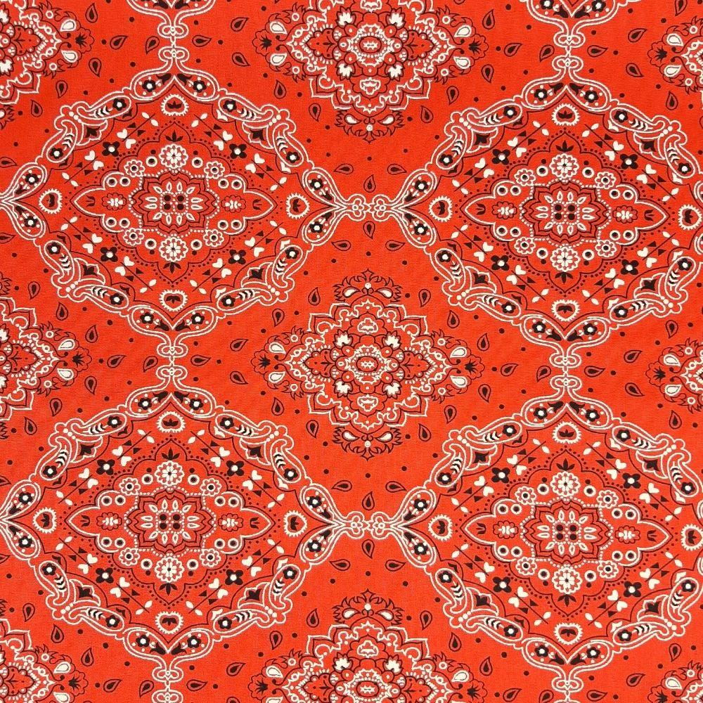 Tricoline Bandana Tradicional Laranja 100% algodão - valor referente a 50 cm x 1,50 cm