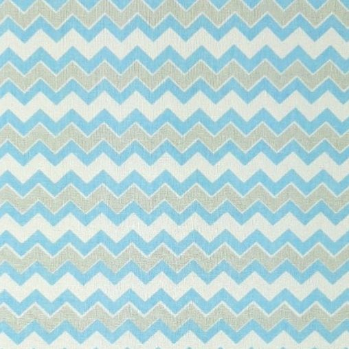Tricoline Chevron médio azul e cinza 100% algodão - cada unid. 0,50cm x 1,50m