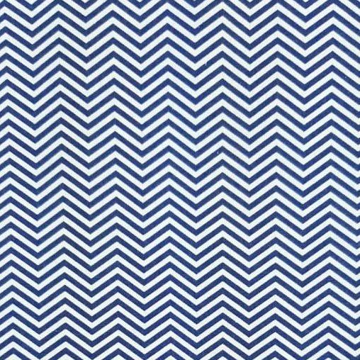 Tricoline Chevron Médio Azul Marinho 100% algodão - valor referente a 50 cm x 1,50 mt