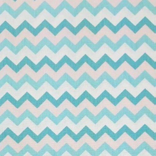 Tricoline Chevron Tricolor Azul 100% algodão - cada unid. 0,50cm x 1,50m