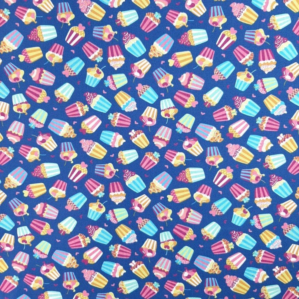 Tricoline cupcake - 100% algodão - valor referente a 50 cm x 1,50 cm