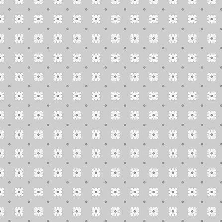Tricoline Básico Cinza com Flores 100% algodão  - valor referente a 50 cm x 1,50 mt