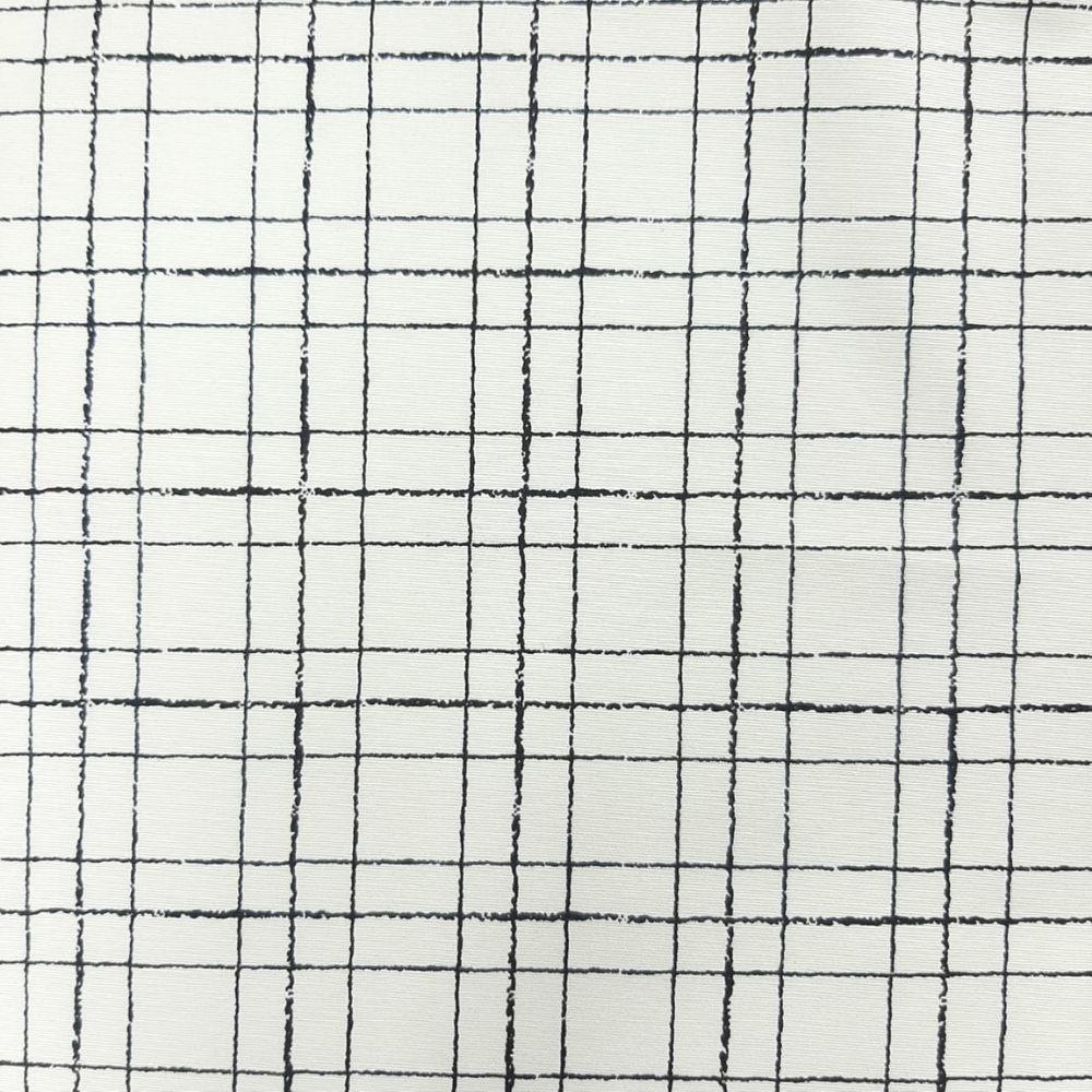 Tricoline Xadrez Bege com Preto MISTA 70% algodão 30% poliéster - valor referente a 50 cm x 1,50 cm