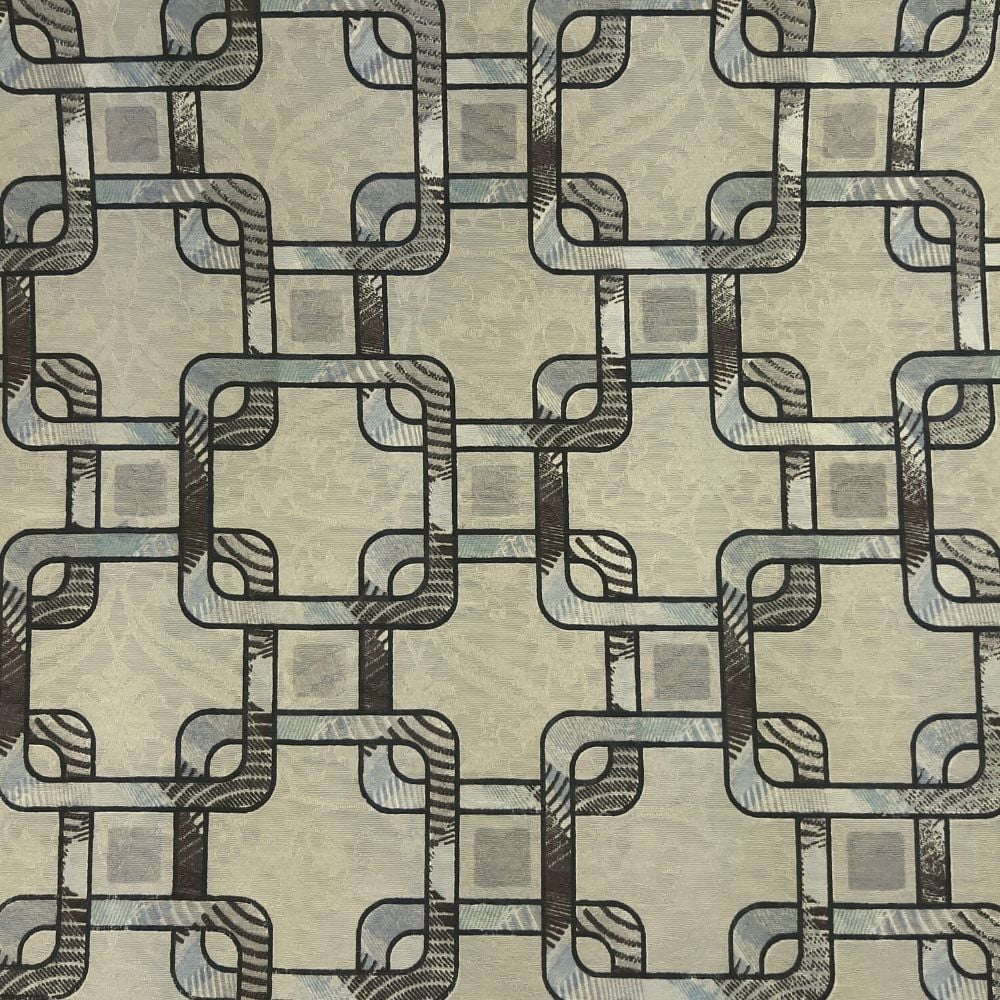 Jacquard correntes fundo creme - cada unid. 0,50cm x 1,40m