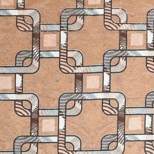 Jacquard Geométrico Marrom - cada unid. 0,50cm x 1,40m