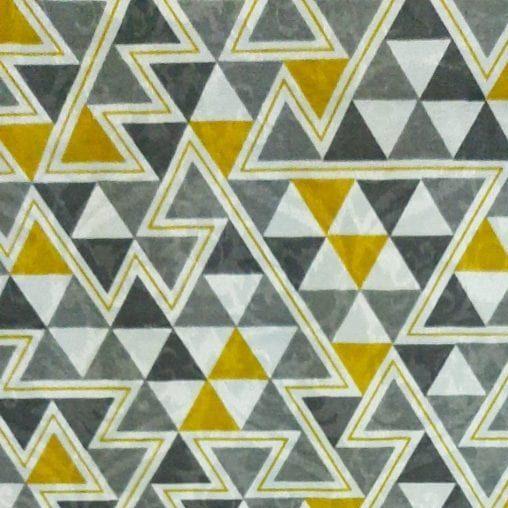 Jacquard Triângulo Cinza e Amarelo - cada unid. 0,50cm x 1,40m