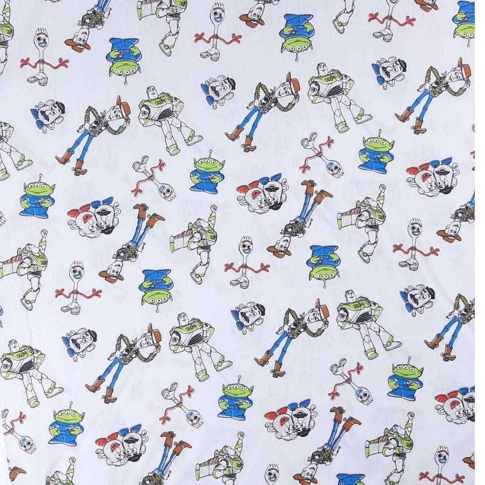 Tricoline Fernando Maluhy Toy Story -100% algodão - valor referente a 0,5 cm x 1,50 cm