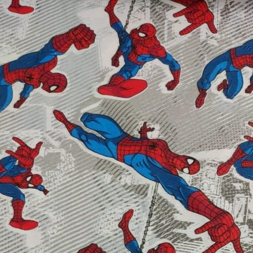 Tricoline Homem Aranha Teia - Fernando Maluhy - 100% algodão - valor referente a 50 cm x 1,50 cm