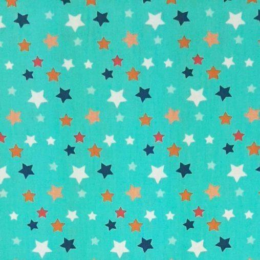 Tricoline Estrelas no Espaço 100% algodão - cada unid. 0,50cm x 1,50m