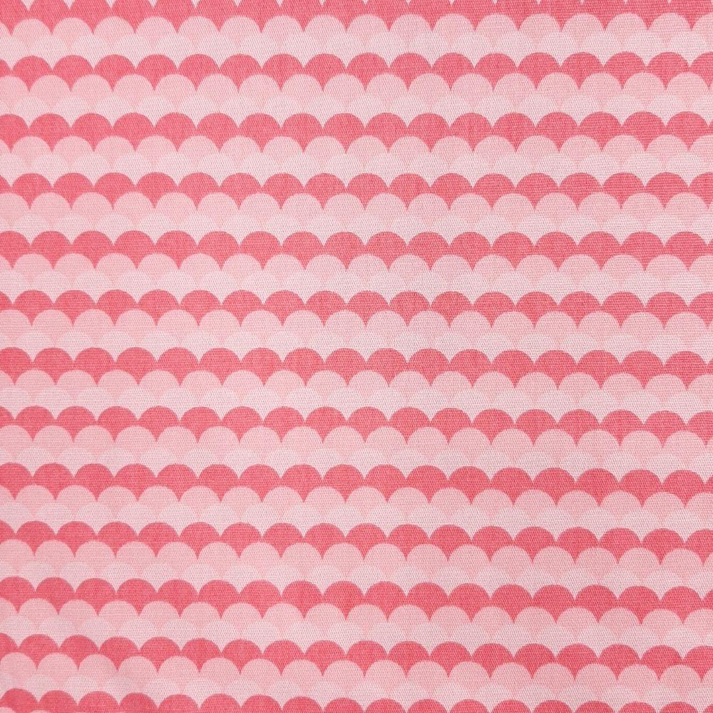 Tricoline Fabricart Signature Maré Rosa - 100% algodão  - valor referente a 50 cm x 1,50 cm