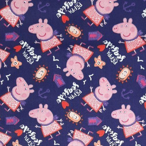 Tricoline Peppa Pig 100% algodão - cada unid. 0,50cm x 1,50m