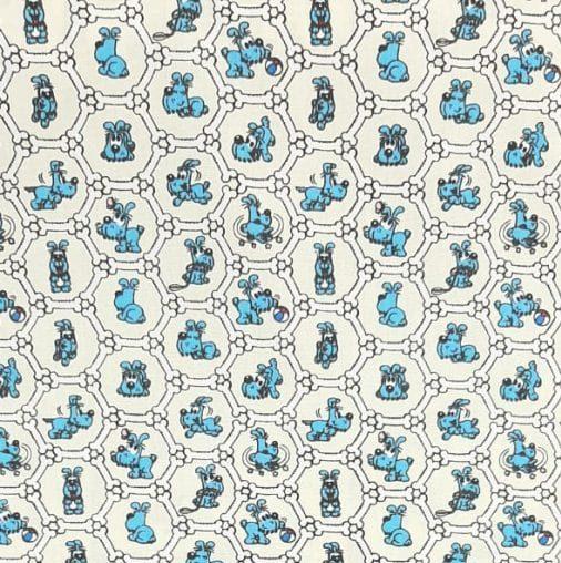 Tricoline Turma da Mônica Bidu Fundo Branco 100% algodão - cada unid. 0,50cm x 1,50m