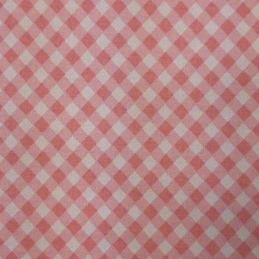 Tricoline Xadrez Rosa Romântico 100% algodão - cada unid. 0,50cm x 1,50m