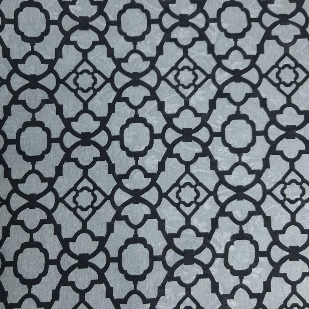 Jacquard Geométrico Preto e Cinza - cada unid. 0,50cm x 1,40mt