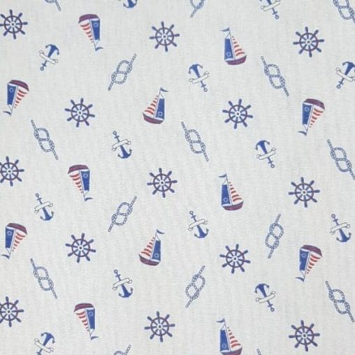 Tricoline Barco e Nó 100% algodão - cada unid. 0,50cm x 1,50m