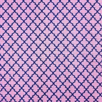Tricoline Delicato Rosa 100% algodão - valor referente a 50 cm x 1,50 mt
