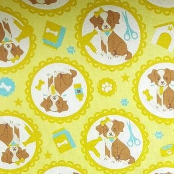 Tricoline Cachorro Pet Shop 100% algodão - cada unid. 0,50cm x 1,50m