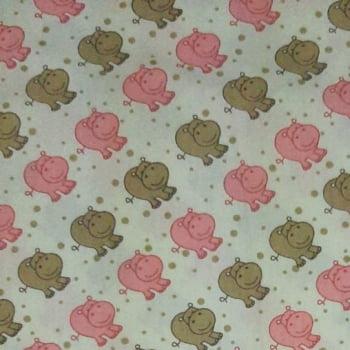 Tricoline Hipopótamo 100% algodão  - valor referente a 50 cm x 1,50 mt