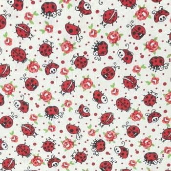 Tricoline Joaninha100% algodão -- valor referente a 0,5 cm x 1,50 cm