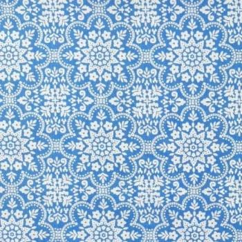 Tricoline Azulejo Azul 100% algodão - cada unid. 0,50cm x 1,50m