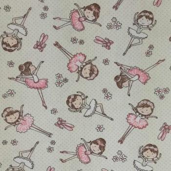 Tricoline Bailarina 100% algodão - valor referente a 0,5 cm x 1,50 mt