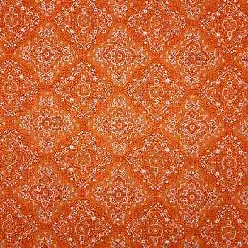 Tricoline Bandana Laranja Fernando Maluy 100% algodão - valor referente a 0,50 cm x 1,50 cm