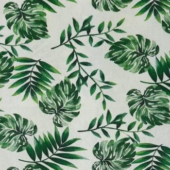 Tricoline Folhagem Eva 100% algodão - valor referente a 0,50 cm x 1,50 cm