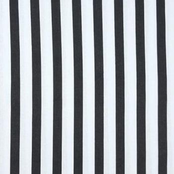 Tricoline Listrado Preto e Branco 100% algodão - valor referente a 0,50 cm x 1,50 cm