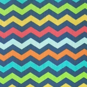 Chevron Multicolor 100% algodão - cada unid. 0,50cm x 1,50m