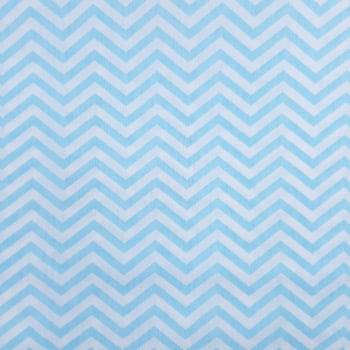 Tricoline Chevron Médio Azul Claro 100% algodão - valor referente a 50 cm x 1,50 cm
