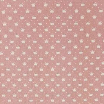 Tricoline Coroa Rosé 100% algodão - valor referente a 50 cm x 1,50 cm