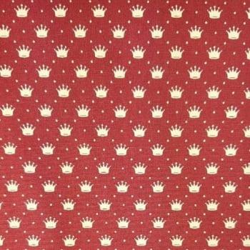 Tricoline Coroa Vinho 100% algodão - cada unid. 0,50cm x 1,50m
