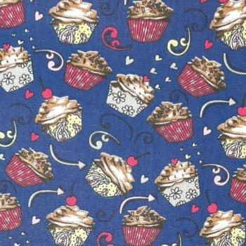 Tricoline Cupcake 100% algodão - cada unid. 0,50cm x 1,50m