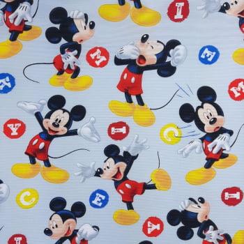 Gorgurinho Mickey Fundo Cinza - cada unid. 0,50cm x 1,47mt