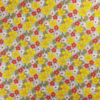 Gorgurinhos Flores Amarelos e Rosa - valor referente a 50 cm x 1,47 cm
