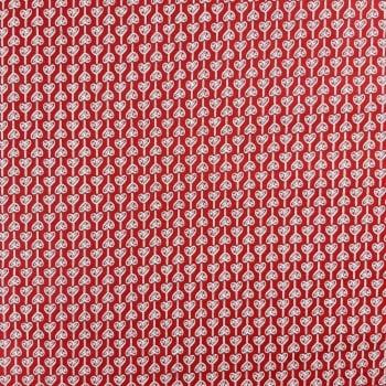 Tricoline Corações Ligados -100% algodão - valor referente a 50 cm x 1,50 cm
