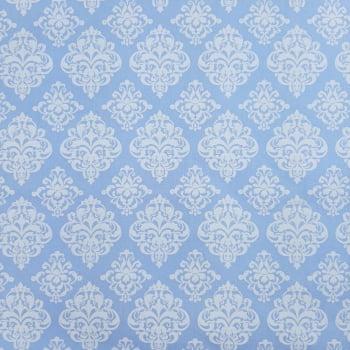 Tricoline Damask Azul Bebe 100% algodão - valor referente a 50 cm x 1,50 cm