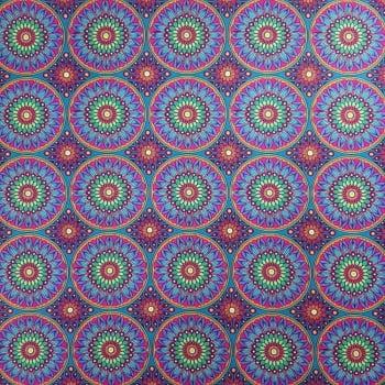 Tricoline Digital Mandala 100% algodão - valor referente a 50 cm x 1,50 cm