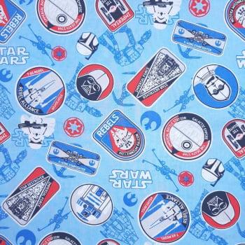 Tricoline Star Wars 100% algodão  - valor referente a 50 cm x 1,50 mt