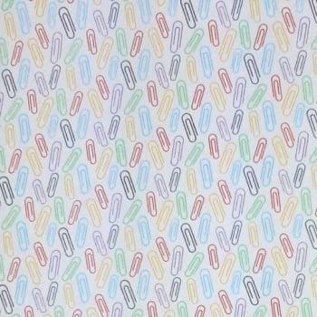 Tricoline Clipes Colorido 100% algodão - cada unid. 0,50cm x 1,50m