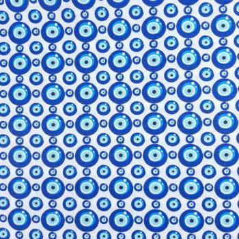 Tricoline Olho Grego 100% algodão - cada unid. 50cm x 1,50m