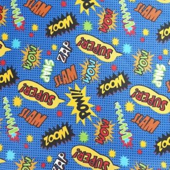Tricoline Super Hero 100% algodão - valor referente a 50 cm x 1,50 cm
