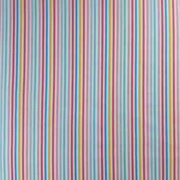 Tricoline Fabricart Signature Listrado Multicolor 100% algodão - cada unid. 0,50cm x 1,50m