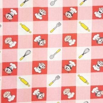 Tricoline Turma da Mônica Cheff  100% algodão - cada unid. 0,50cm x 1,50m