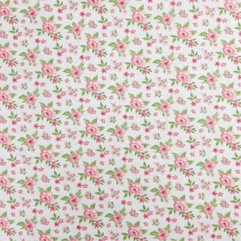 Tricoline Fabricart Signature Tricoline Flores Fundo Cinza  - 100% algodão - valor referente a 50 cm x 1,50 cm