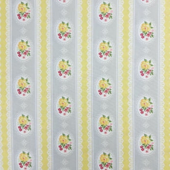 Tricoline Fabricart Signature Tricoline Moldura Cinza - 100% algodão - valor referente a 50 cm x 1,50 cm